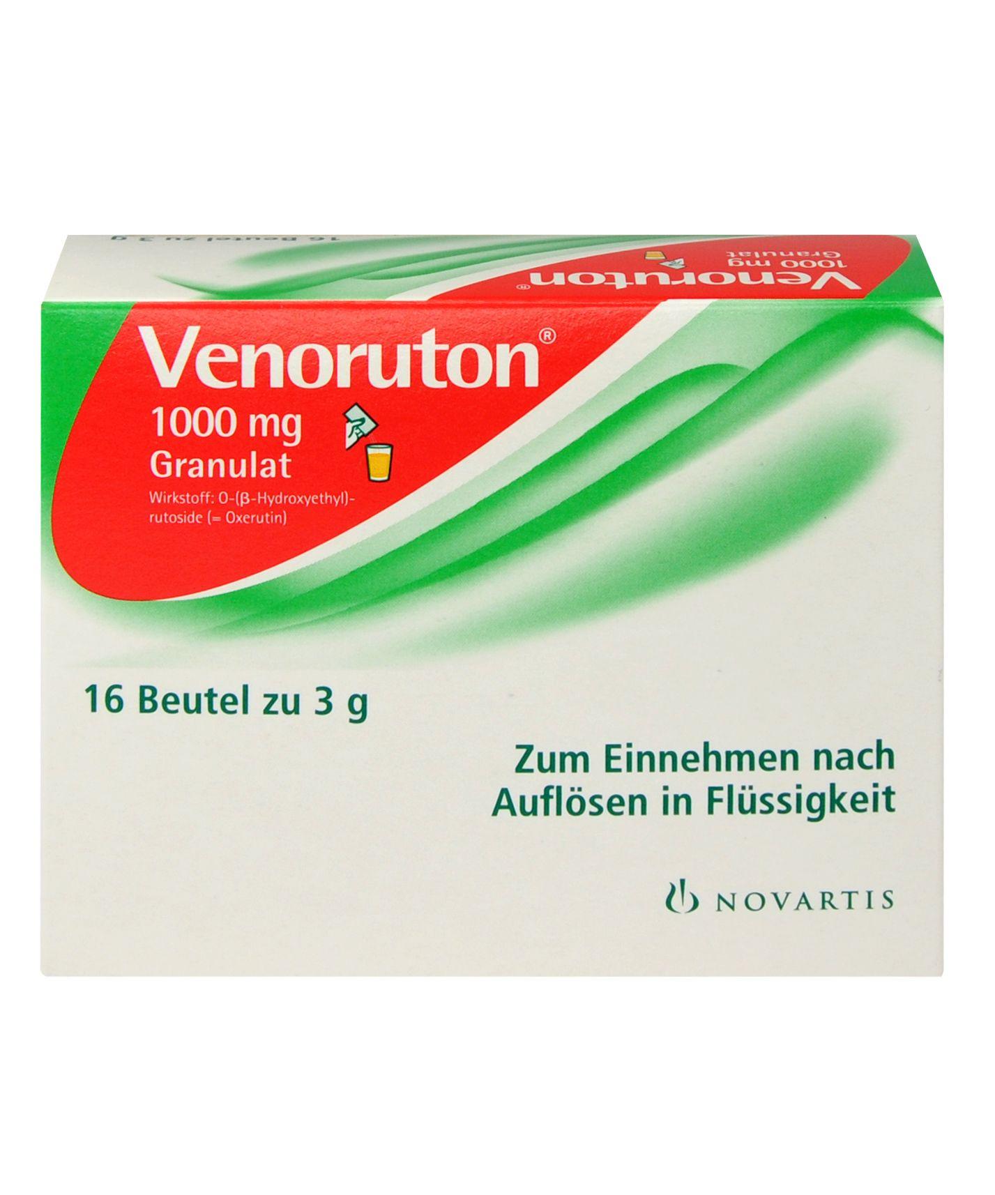 Verpackung von Venoruton 1000 mg – Pulver zur Herstellung einer Lösung zum Einnehmen