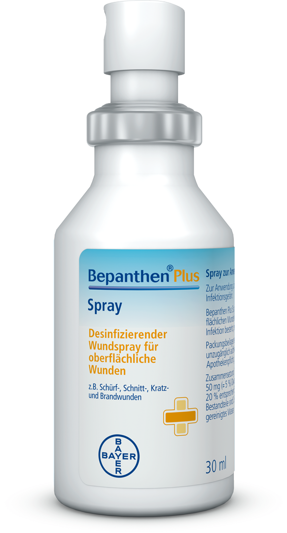 Verpackung von Bepanthen Plus - Spray