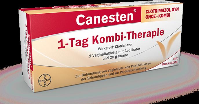 Verpackung von Canesten Clotrimazol Gyn Once - Kombi