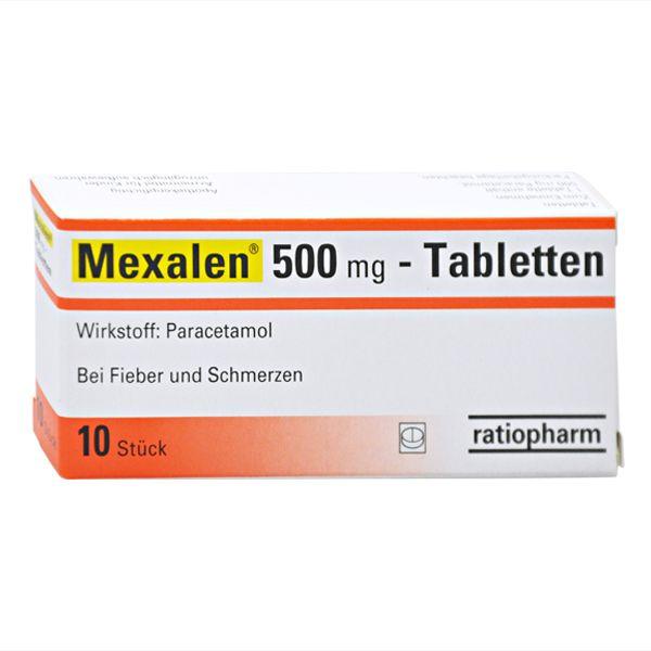 Verpackung von Mexalen 500 mg - Tabletten