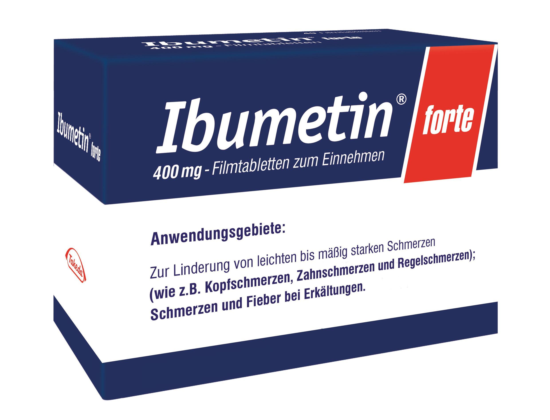 Verpackung von Ibumetin forte 400 mg - Filmtabletten