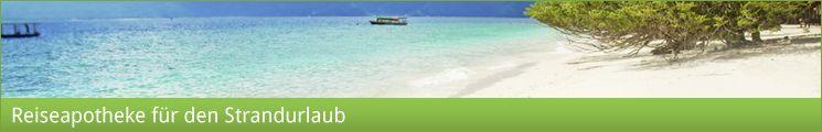 Reiseapotheke Strandurlaub